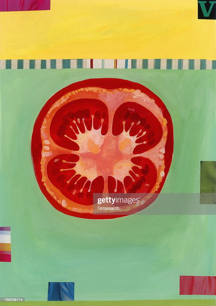 One tomato half : Stock Illustration