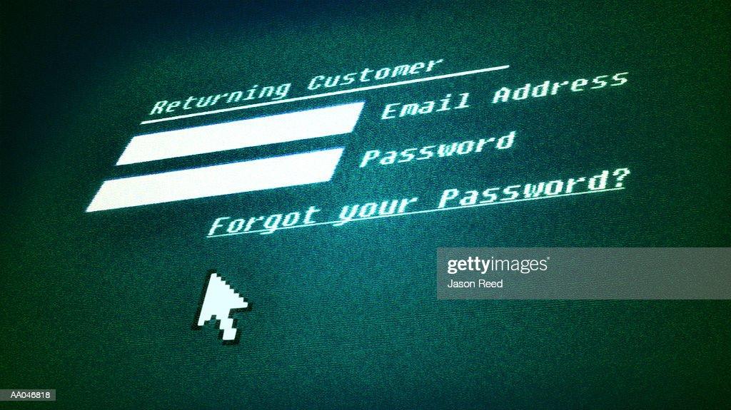 Online password protection (Digital) : Stock Illustration