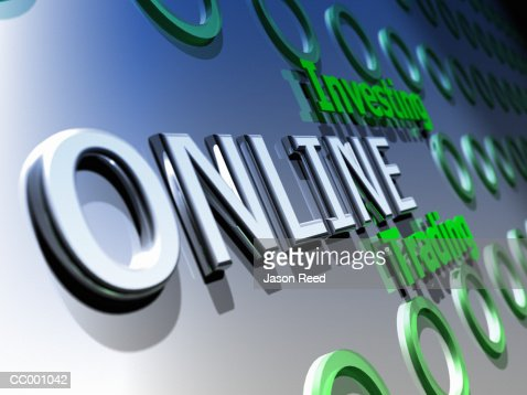 Online Trading : Stockillustraties