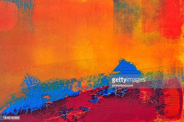 Orange et bleu abstrait un