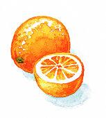Orange Half and Whole