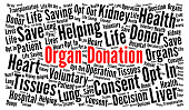 Organ donation word cloud concept
