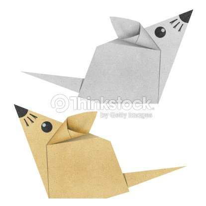 Origami Mouse Recycled Papercraft Stock Illustration Thinkstock
