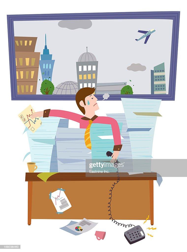 over work : Stock Illustration