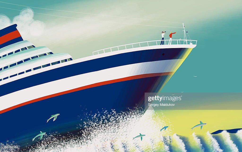 Pacific ocean : Stock Illustration