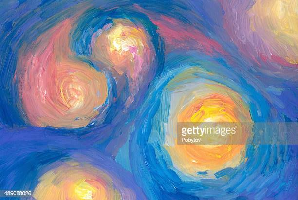 Painted stars - abstract art background