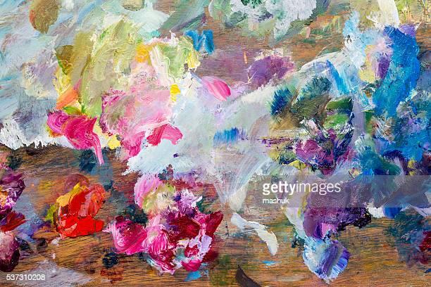 Painter palette background