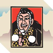 Painting of A Kabuki Actor, Woodcut