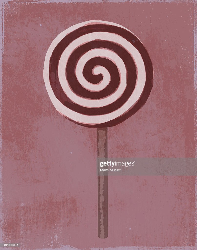 A painting of a swirl lollipop : Stock Illustration