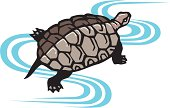 Painting of A Turtle, Woodcut