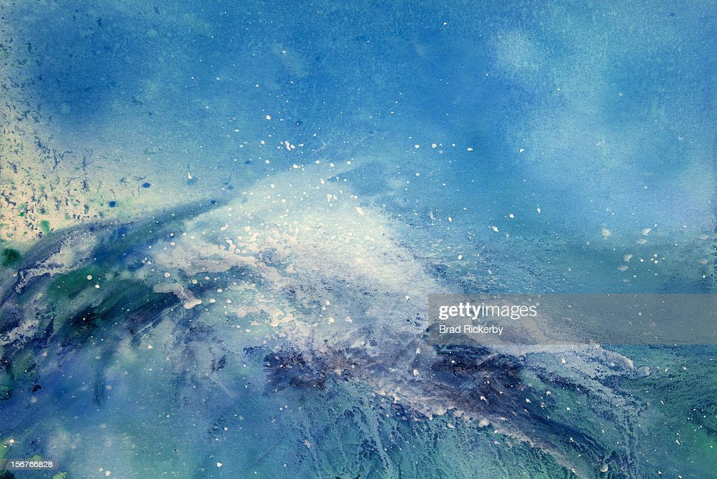 Painting of an ocean wave : Stock Illustration
