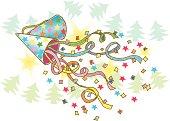 Painting of Christmas cracker, Illustration