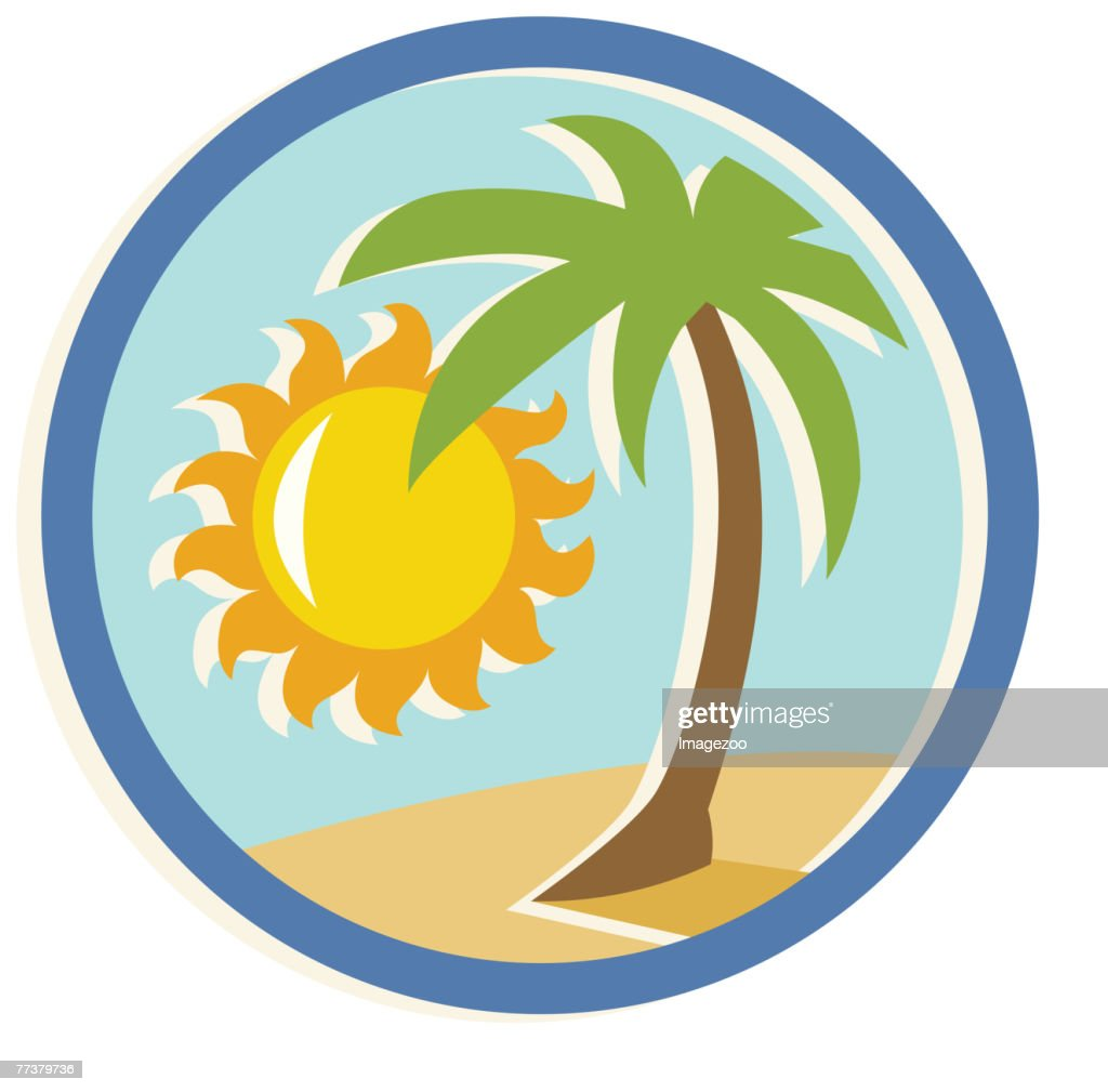 palm tree and sunshine : Vector Art