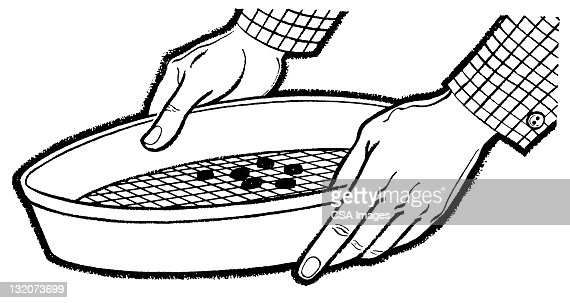 panning for gold stock illustration getty images