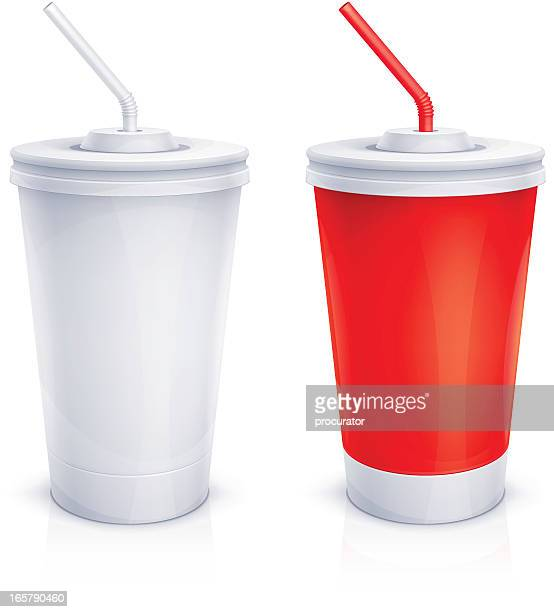 Paper cups with tubes
