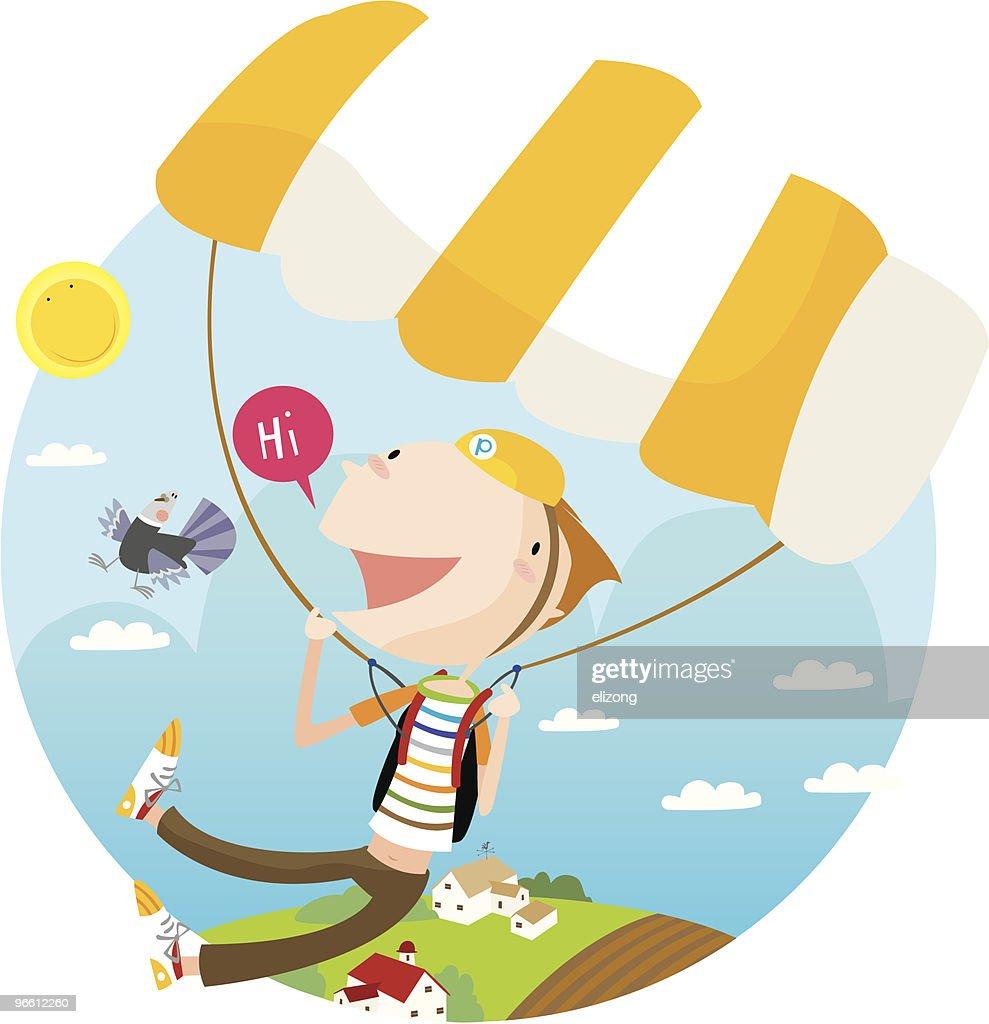 parachute fun : Vector Art
