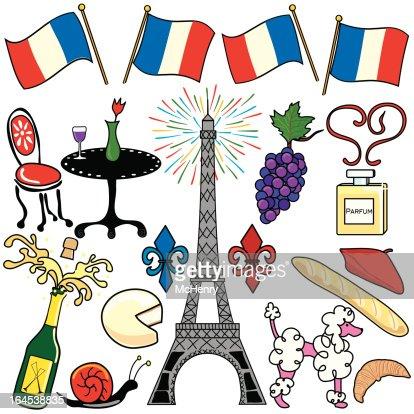 Paris Frankreichclip Art Fest Vektorgrafik   Thinkstock   {Französische küche clipart 0}