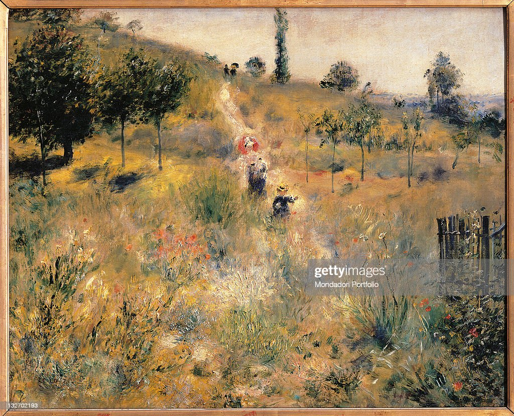 Pathway Through Tall Grass, by Pierre-Auguste Renoir, 1875 about, 19th Century, oil on canvas, cm 60 x 74. : Fine art