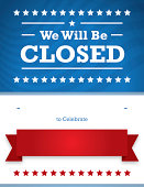 closed for 4th of july sign template