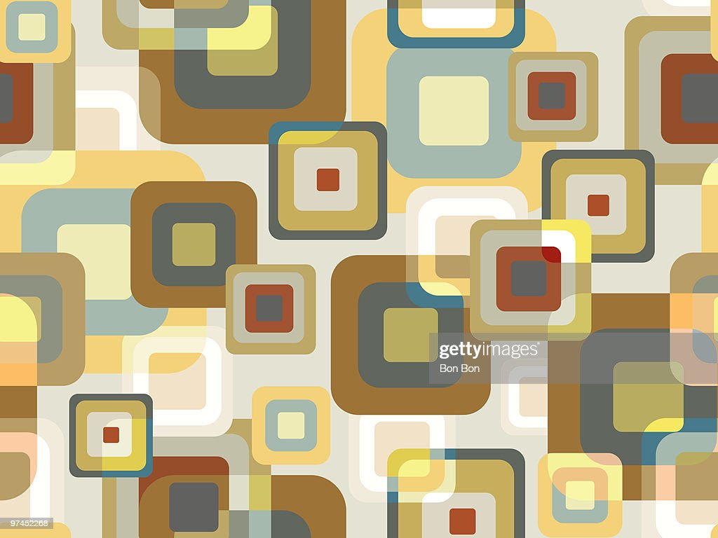 A pattern created through bricks of color : Stock Illustration