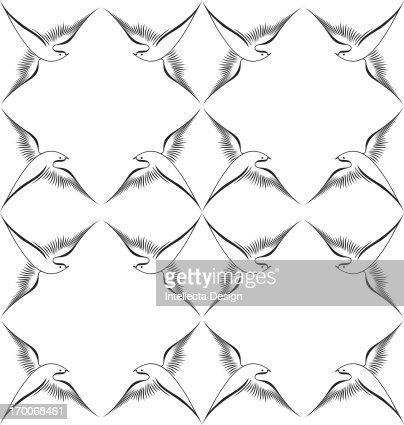 A pattern of birds in flight : Stock Illustration