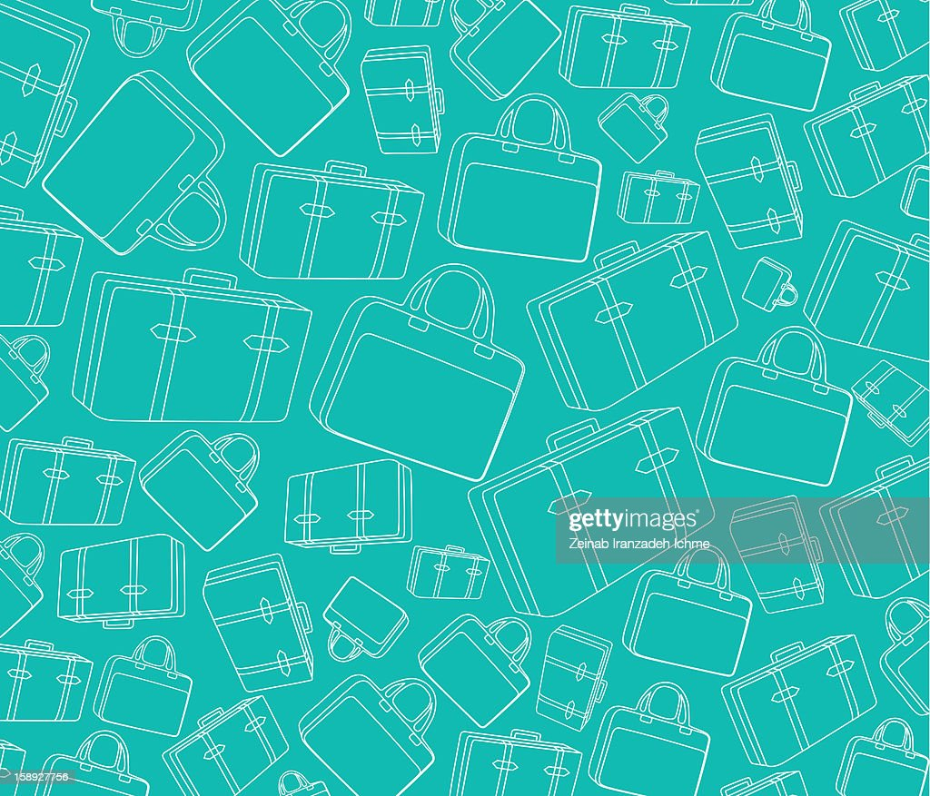 Pattern of luggage : Stock Illustration