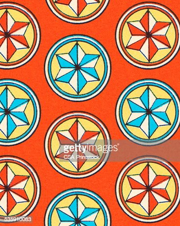 Pattern of Star Shapes : Stock Illustration