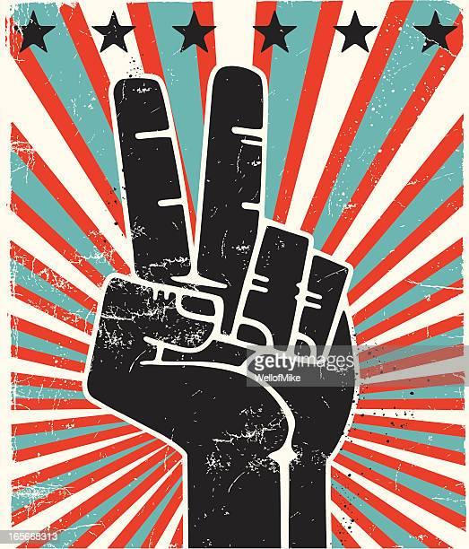 Paix doigts États-Unis