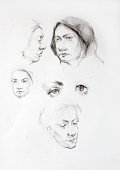 Original artwork..Human portrait sketchs.