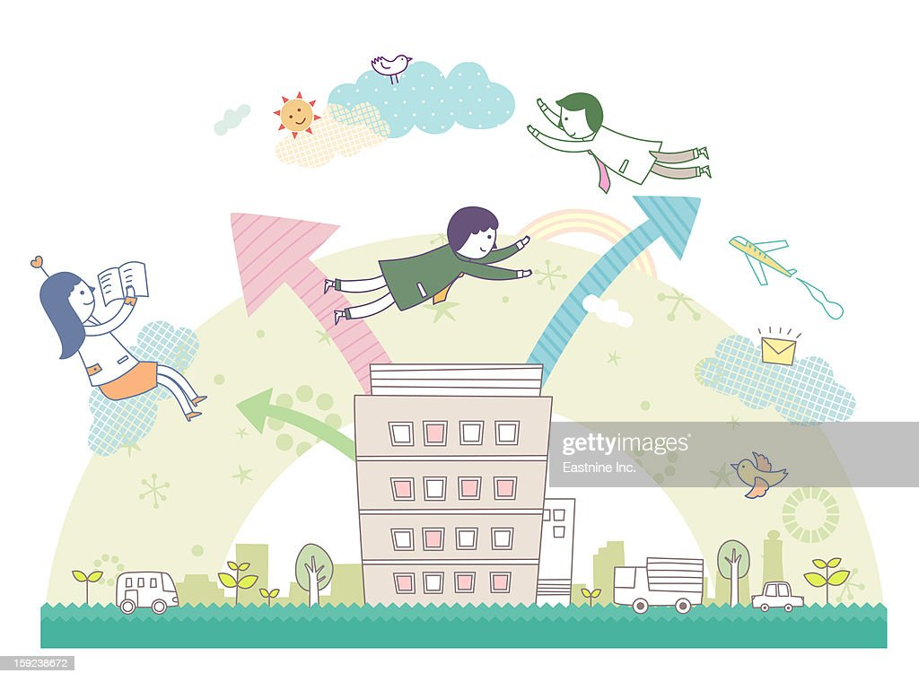 People in the City : Stock Illustration