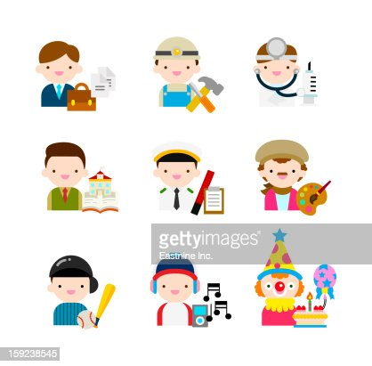 People of various profession : Stock Illustration