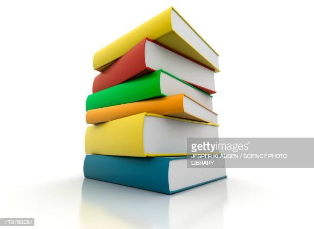 Pile of brightly coloured books