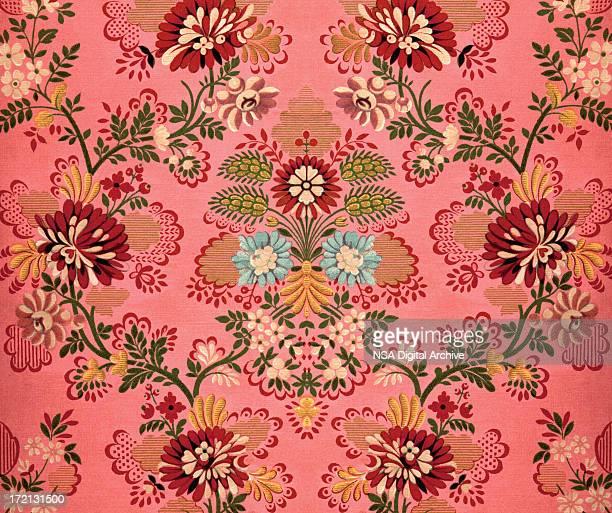 Rosa decoración de estilo barroco