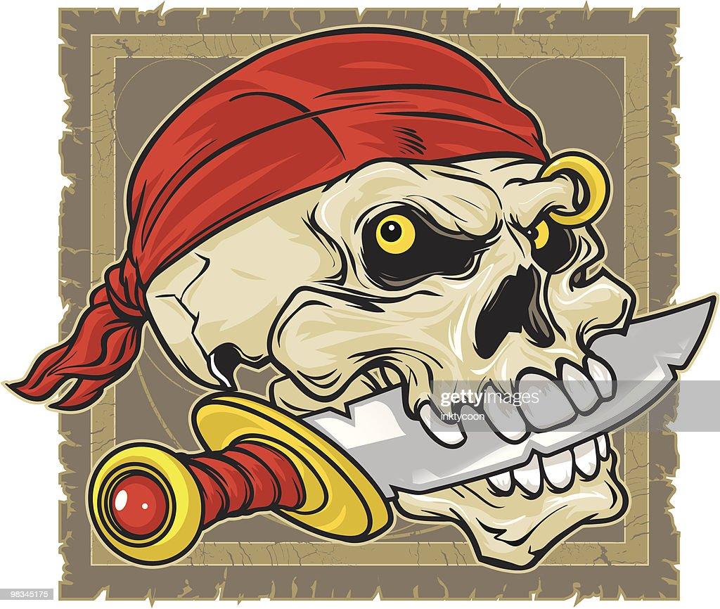 Pirate skull : Vector Art