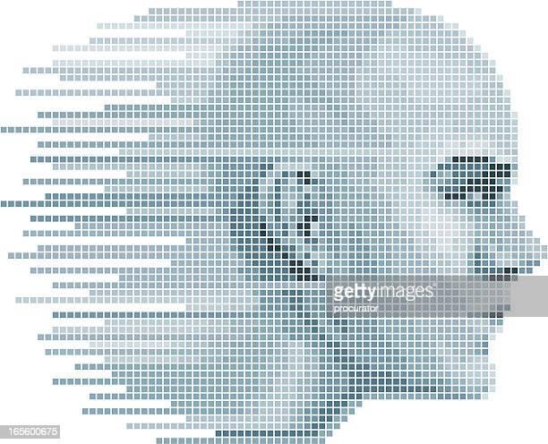 Pixel-Gesicht