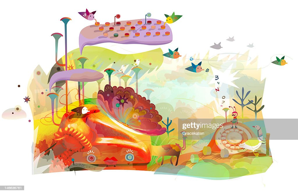 A place for calling : Stock Illustration