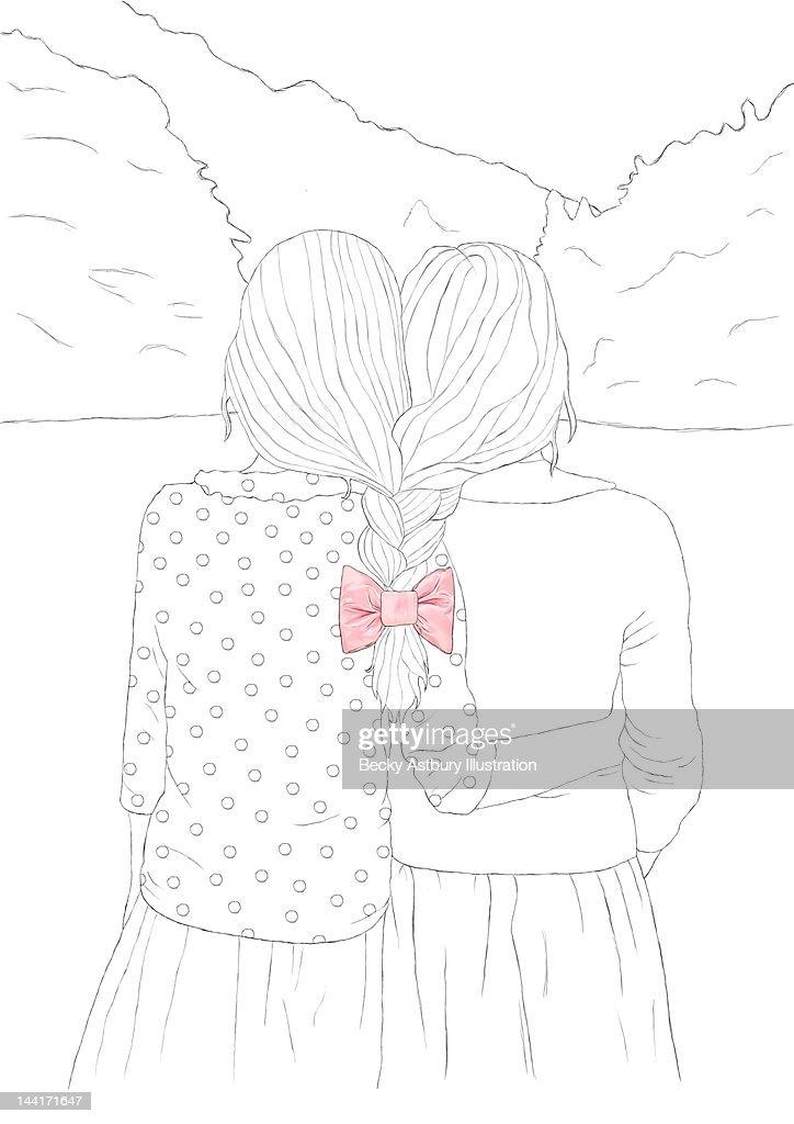 Plaited together : Stock Illustration