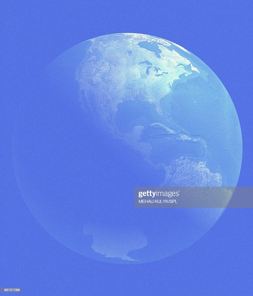 Planet Earth View From Space Stock Illustration   Getty Images