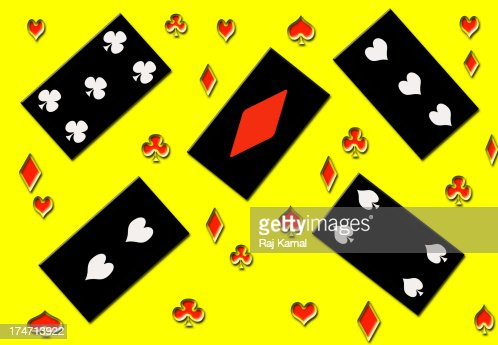 Playing Cards Creative Abstract : Stock Illustration