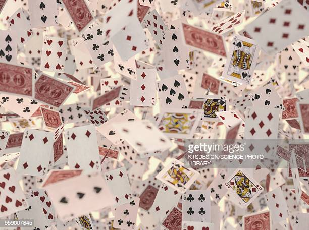 Playing cards, illustration