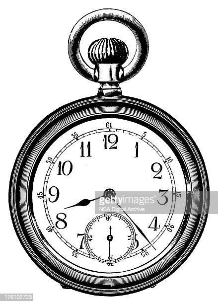 Pocket watch   Antique Design Illustrations