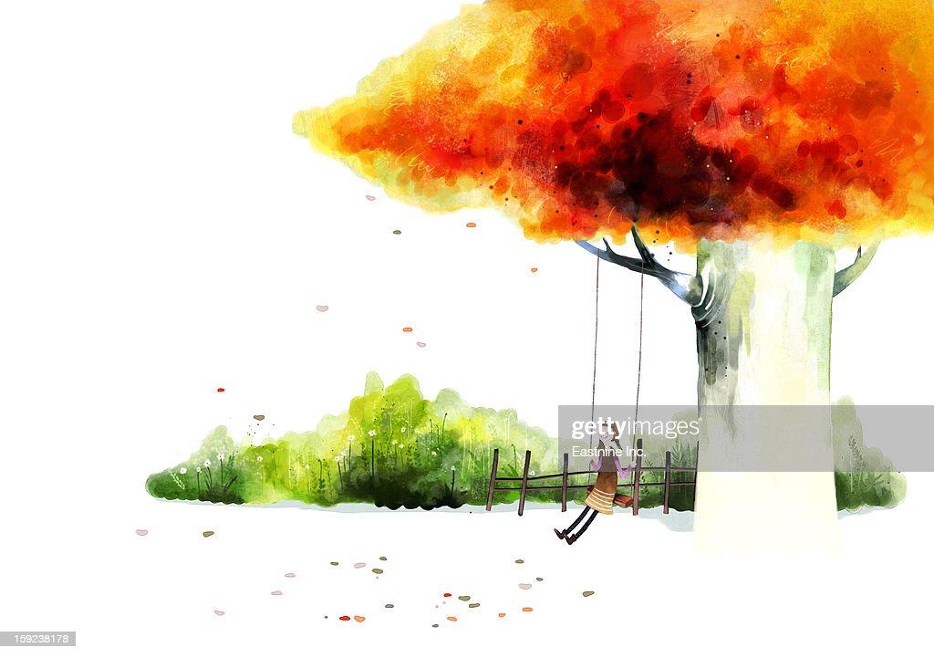 Poetic Scene : Stock Illustration