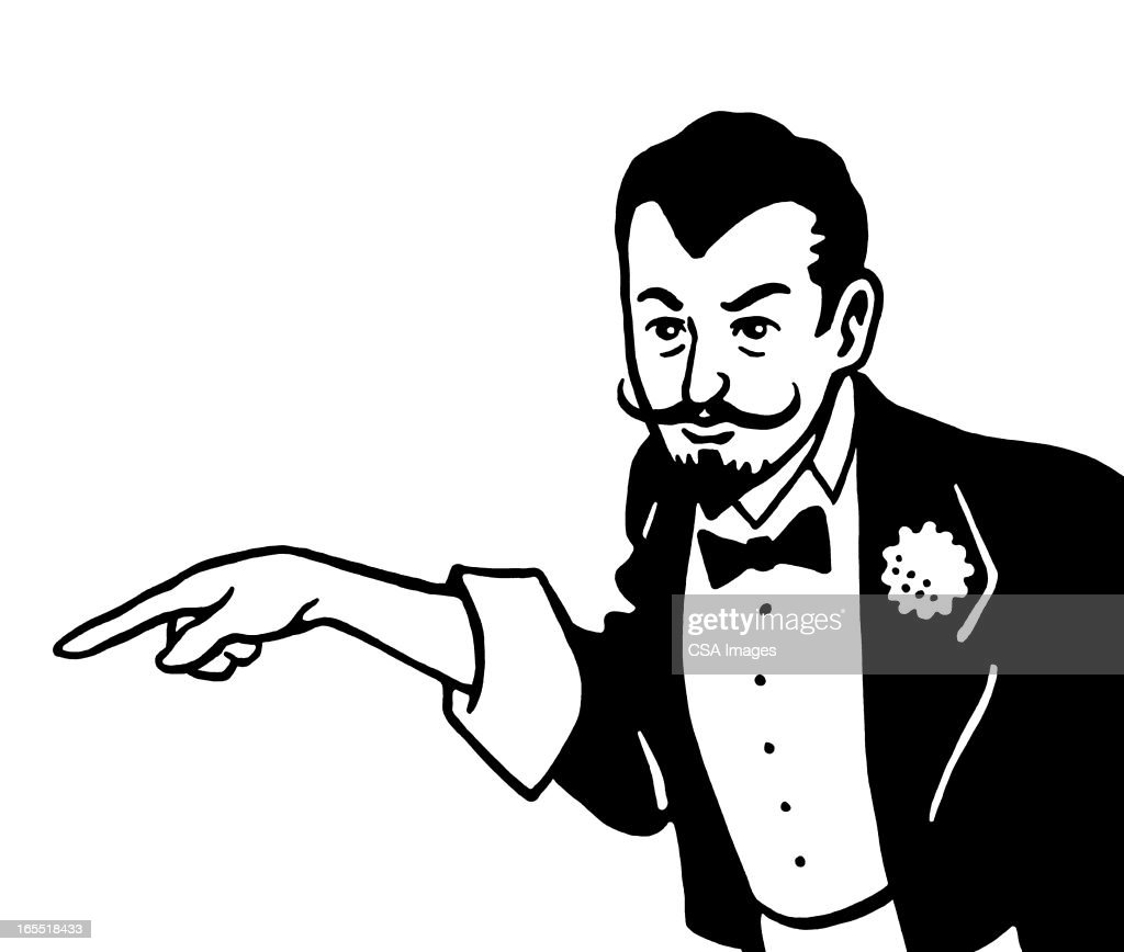 Pointing Magician : Stock Illustration