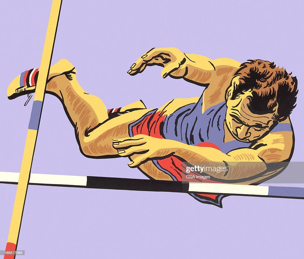 Pole Vault : Stock Illustration