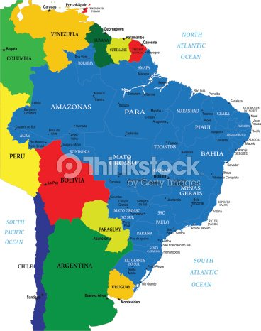 Political Map Of Brazil Vector Art Thinkstock - Brazil political map