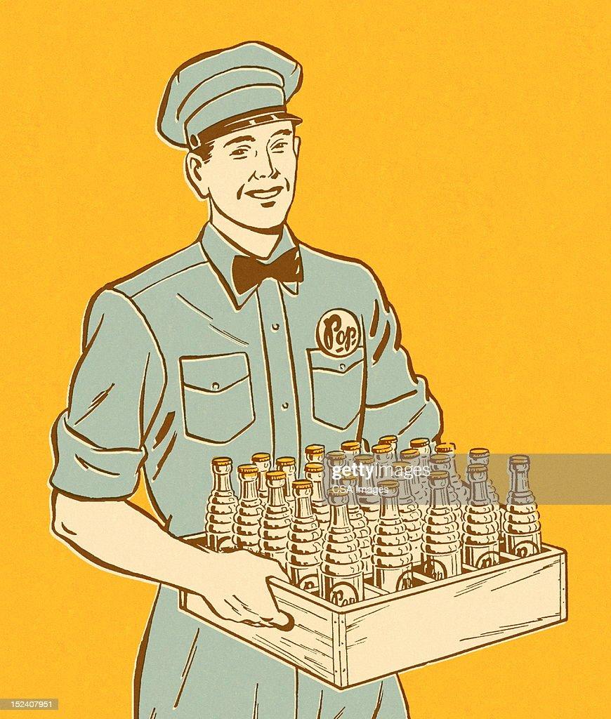 Pop Delivery Man : Stock Illustration