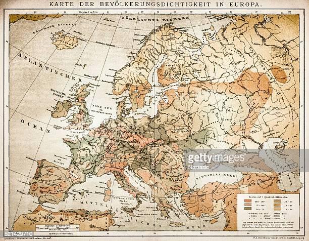 Population tightness map of Europe