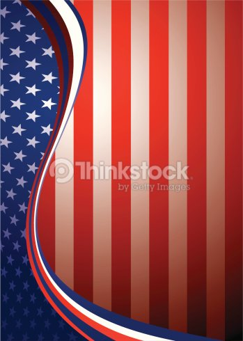 portrait american flag background template concept with stars and