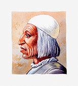 Portrait of 15th Century Italian scholar Paolo dal Pozzo Toscanelli, illustration