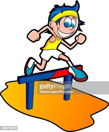 Kids hurdles clipart